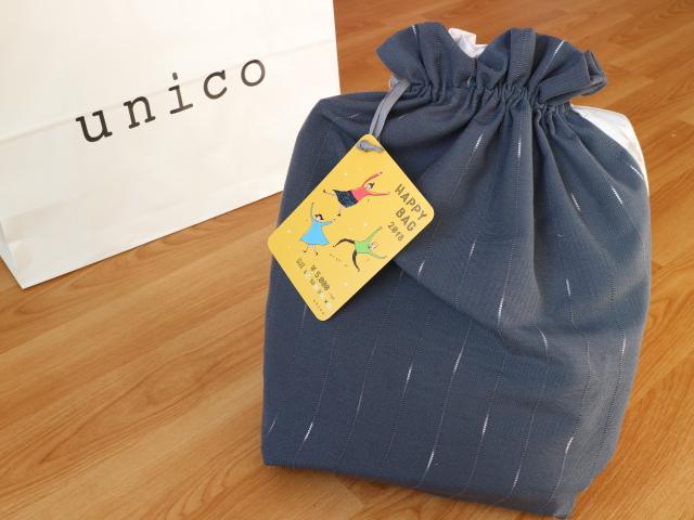 unicoでは、ファブリック&雑貨の福袋≪HAPPY BAG≫【5,000円(税抜き)】です。