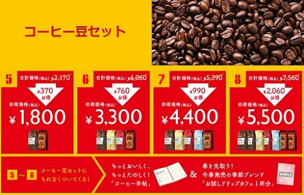 ドトールコーヒー豆セット